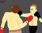 Resident Evil-Piers vs. Jake boxing match 6 by izzyartistic1