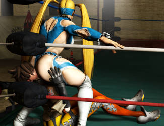 R. Mika vs Tracer by BlakKnight08