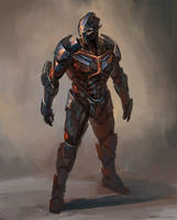 some battle suit concept by GeorgeVostrikov