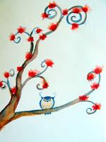 Owl in Tree by ladylindz