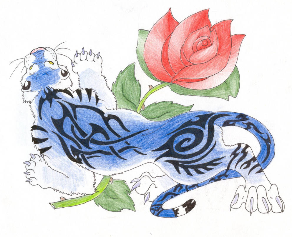 Tiger And Rose Tattoo By Tribalwolfie On Deviantart