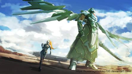 Mecha and Pilot by kusanagimotoko100