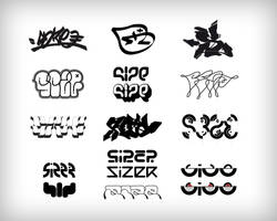 Mr Size Logotypes by sizer92