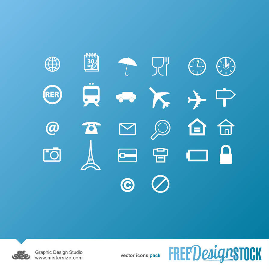 Vector Icons Pack 03 by sizer92
