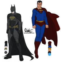 Bats and Supes Concepts by Harseik