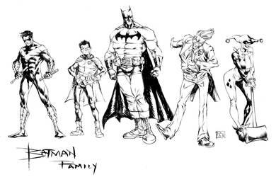 Bat-Family by thecreatorhd