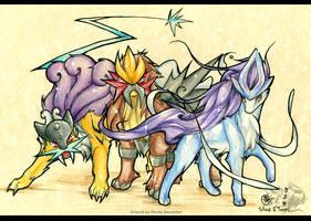Legendary beasts by Shivita