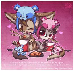 Panda Valentine by Shivita