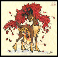 Deerling and Sawsbuck by Shivita