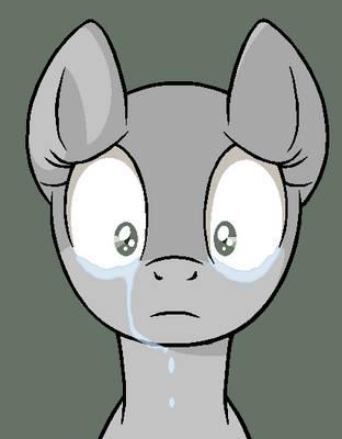 Sad Pony Base  (Ms Paint Version) by Ask-Flare22