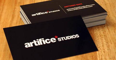 Artifice Studios Business Card by masterjawa
