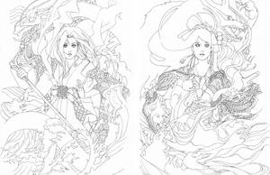 WIP Mikoto Kushina Tablet Cover by Reynaile