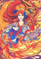 Guardian of Flames: Kushina by Reynaile