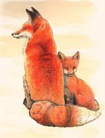 Vigilant Mama Fox by WeileAsh