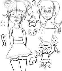 Sketch dump. by half-fox-demon1020