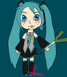 Vocaloid: Hatsune Miku Chibi by half-fox-demon1020