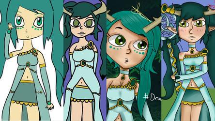 the evolution of Lady Lilianna by half-fox-demon1020