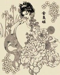 kingyohime by sakizo