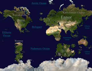Midgard - A Fantasy World Map by tomme23