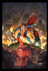 Blackest Night Superman 3 cov by ToolKitten