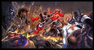 Blackest Night JSA 1-3 triptyc by ToolKitten