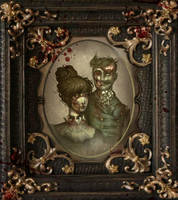 pride and predudice and zombies painted by ToolKitten