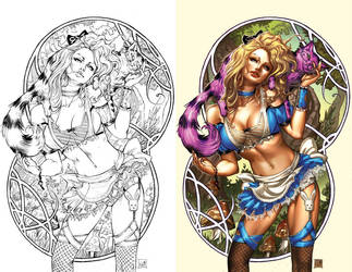 Alice in wonderland 4 blue rainbow exclusive by ToolKitten