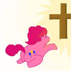PinkiePie Finds Jesus by pewdie-pinkiepie
