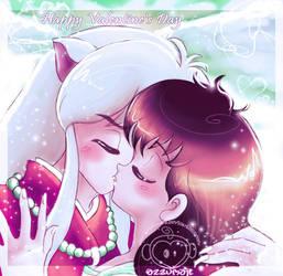 InuYasha + Kagome Sweethearts by azzumail