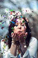 Confetti fun by aggestardust