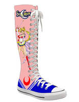 Sailormoon knee high converse by mannepussie