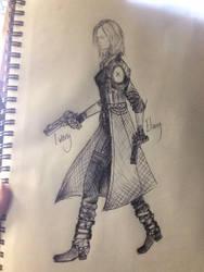 Dante Cosplay Sketching by NikkiSixxIsALegend