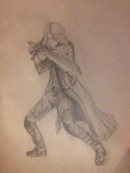 Dante doodling by NikkiSixxIsALegend