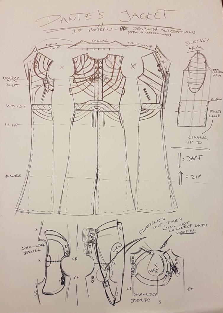 Dante Jacket 1st Draft Pattern by NikkiSixxIsALegend