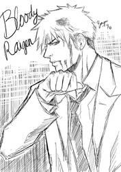 CR : Bloody Raigen in suit by Bayou-Kun