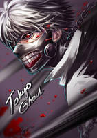Tokyo Ghoul - Kaneki Ken by Bayou-Kun