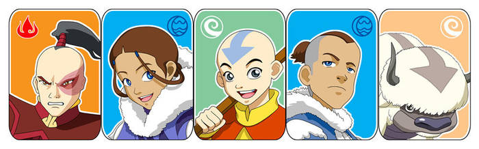 Avatar : The characterz by Bayou-Kun