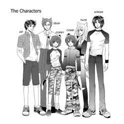The Nine-Lives_Characterz by Bayou-Kun