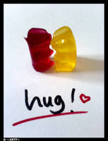 Gummibears Hug Umarmung by Silke1977