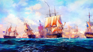 Imperial Galleons at War by Lance-Daniel-Smith