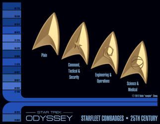 25th Century Starfleet Combadges by sumghai