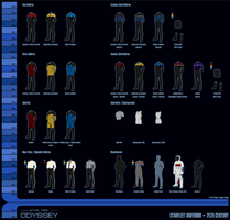 25th Century Starfleet Uniforms by sumghai