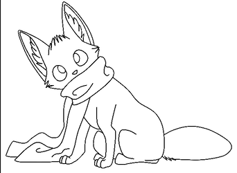 Free Scarf Fox Lineart by MelloYelloJello