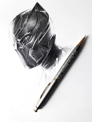 BLACK PANTHER DRAWING (+VIDEO) by Cataclysm-X