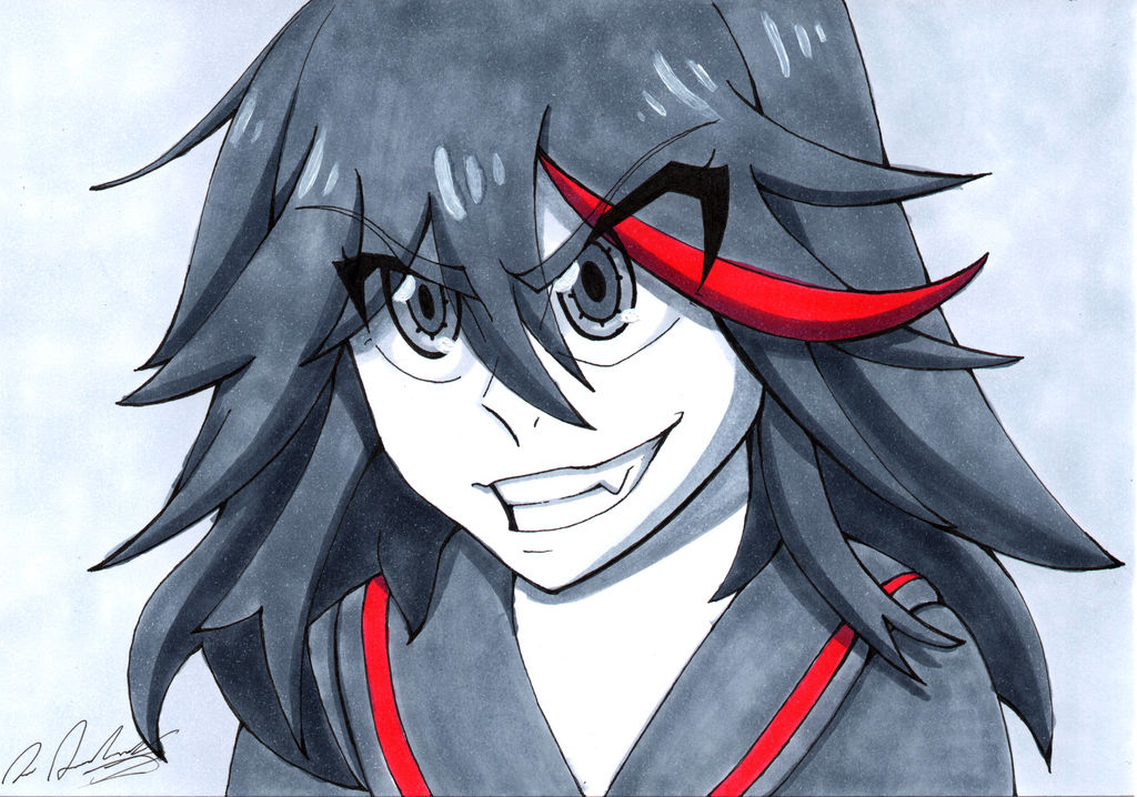 Ryuko Matoi - Copic Drawing by tsand106