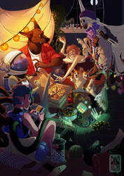 Monster Party by brepai