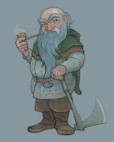 The Hobbit: Dwalin by Cloverfish