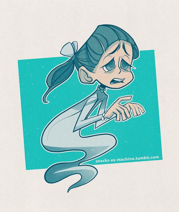 Leetle Ghost Girl by snacks-ex-machina