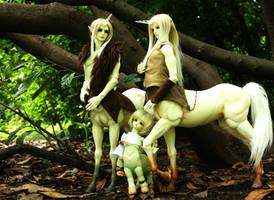 Soom Centaur Family by Kuroi-Sora