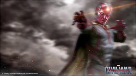 Captain America Civil War - Vision Wallpaper by Admin-Cap